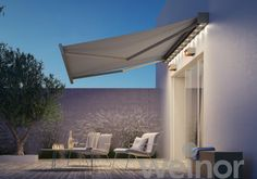 Kubata, the modern cubic cassette awning from weinor, convinces due to its linear design and slots harmoniously into the architectural concept of your building. Beaufort Scale, Salvador, Cassette, Outdoor Living, Outdoor Decor, Heating Systems, Patio Design, Design Awards, Tempura