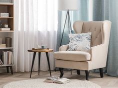 Poltrona in tessuto vellutato beige ALTA Ferro A Vapor, Design Retro, Velvet Furniture, Velvet Couch, Cosy Corner, Fabric Armchairs, Retro Stil, Look Vintage, Beige