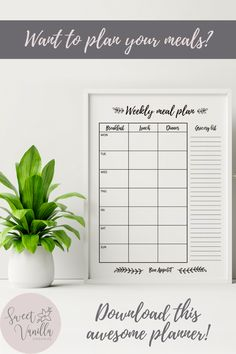 Printable meal planning template that will save you tons of time! Simple meal planner to download and print! How to easy menu plan with amazing minimalist printable ideas! Menu prep planner for your home! Housekeeping hacks that actually save time! Download now your own cooking chart! Preparing your meals will be easier with this incredible planner! Shop now! Etsy printables! Family meals for the week! Easy meal planning chart! Meal prep worksheet! A planned family is a happy family! Shop… Meal Planning Chart, Meal Planning Printable, Menu Planning, Weekly Meal Planner Template, Weekly Menu Planners, Food Planner, Easy Meal Plans, Menu Boards, Family Organizer