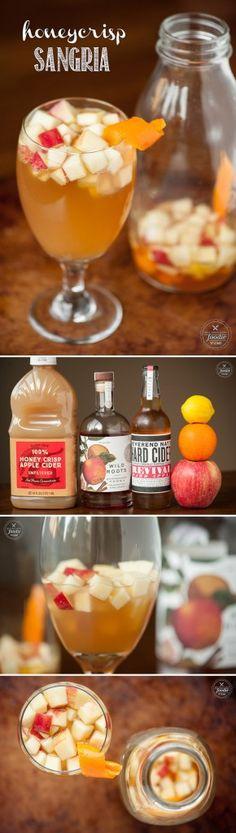 Honeycrisp Sangria - Hard Cider, Apple Vodka, Simple Syrup, Fresh Cider Lemon, Orange, Apple