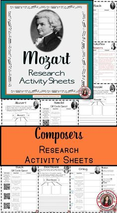 Students work on research, technology, reading, comprehension and writing skills as they research the life and music of composer Ludwig van Beethoven. There are TWO different activity sheets and TWO versions of each. These are designed to suit different ages/abilities. ♫ CLICK through to read more or save for later