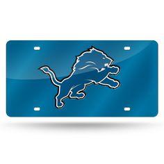 Lions NFL Mirror License Plate (Blue)