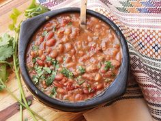 Frijoles Charros (Mexican Pinto Beans With Bacon and Chilies – can make vegetarian) – Serious Eats - Win Your Next Potluck With Frijoles Charros (Mexican Cowboy Beans)