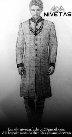 whatsapp  +917696747289 email- nivetasfashion@gmail.com Achkan - for man - groom - kurta - sherwani - style - indian - wedding - dresses - designs - punjabi - royal - embroidery - bollywood - inspiration - prince - pictures - guys - brooch - fashion - sketch - coat - dhoti - sikh - latest - boys - 2017 - couture - jacket - dulha - groomsmen - shoes - jodhpuri - modern - brocade - nawabi - indo western - mens - pakistani - partywear -