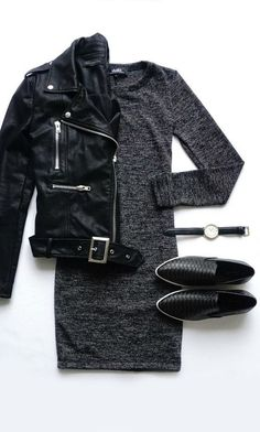All black | Outfit | Classic | Minimalistic | Monochrome | Flatlay | Fall Winter