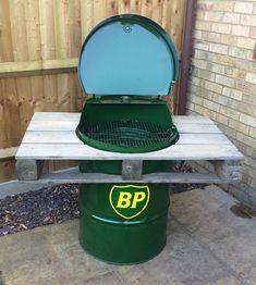 fabriquer un barbecue tonneau avec baril bp et stand en palette