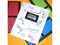 "Criminal Minds ""Haunted"" Episode TV Script Autographed: Thomas Gibson, Mandy Patinkin, Matthew Gray Gubler, Shemar Moore & More"