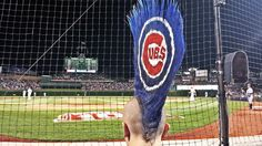 Now this is a Cubs fan!! Cubs Mohawk
