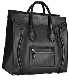CELINE cuir noir Medium Shopper fourre-tout......!!!!