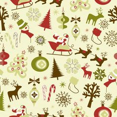 Christmas Scrapbook Retro Paper pack by GraphicMarket on Creative Market