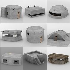 military bunkers model bunkers military modelYou can find Military diorama and more on our website Bunker, Airsoft, Warhammer Terrain, 3d Modelle, Wargaming Terrain, Apocalypse Survival, Military Modelling, Survival Shelter, Fortification