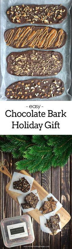 chocolate bark recipe   edible holiday gifts   homemade gifts   holiday gifts   free printable