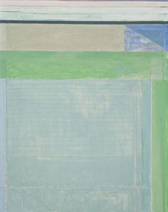 "Ocean Park 115 / Richard Diebenkorn / 1979 / ""This painting is one of a series referencing Ocean Park, the beach landscape near Diebenkorn's California studio."" -- MoMa"
