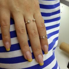 Double rings - Attraction. For trendy and stylish look. Amorem. Sterling silver. Handmade