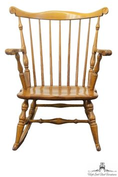 TELL CITY Young Republic Rock Maple Duxbury Windsor Rocker 683 1/2 Andover # 48 #Doesnotapply