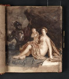 'Mars and Venus, after Guercino' 1802