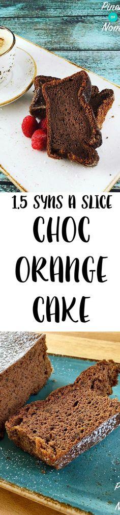 Obesity And Diabetes Syn a Slice Chocolate & Orange Cake Slimming World Deserts, Slimming World Puddings, Slimming World Recipes Syn Free, Slimming World Syns, Slimming World Chocolate Cake, Slimming Eats, Syn Free Food, Sliming World, Diabetes