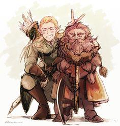 Lord of the Rings (The Hobbit) Legolas Jrr Tolkien, Legolas Et Aragorn, Gandalf, Fanart, Art Hobbit, Bagginshield, Illustration, Middle Earth, Lord Of The Rings