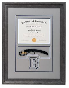 Congrats Grads! Get a unique custom framed #diploma at The Great Frame Up #graduation #grad #achievement #customframeddiploma #customframing