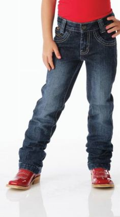 Cruel Girl Utility Jean    Adjustable waistband. Low rise, straight leg. 12 oz denim. Dark stonewash. Available at Frontier Western Shop - www.westernshop.com