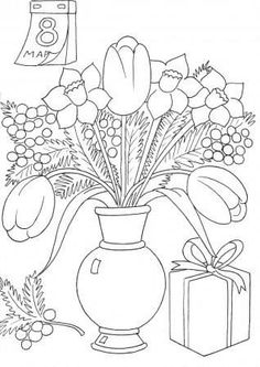 Free Spring Printable Coloring Pages - Free Spring Printable Coloring Pages, Plant Coloring Page Coloring Pages Daisy Flower and Ruby Colouring Pics, Flower Coloring Pages, Adult Coloring, Coloring Books, Baby Animals Super Cute, Beautiful Bouquet Of Flowers, Window Art, Holiday Postcards, 8th Of March
