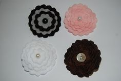Flower Crafts on Pinterest | Fabric Flowers, Ribbon Flower and Paper ...