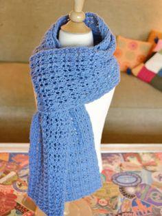 Reversible Lace Scarf Free Knitting Pattern