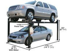 XH-PRO8000-42 4 Post Car Lift, Four Post Lift, Hydraulic Cylinder, Metal Working Tools, Garage, Carport Garage, Garages, Car Garage, Carriage House