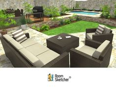 Did you know you can create outdoor areas using RoomSketcher? Whether you want to add a new deck, plan a new #pool, layout a #garden, create an #outdoorkitchen or you just want to see how you can improve your #curbappeal - RoomSketcher can help! See how: http://www.roomsketcher.com/blog/create-outdoor-areas-with-roomsketcher/ #homedesign #deck #terrace #patio #outdoorrooms