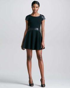 Diane Von Furstenberg Delyse Leather Dress
