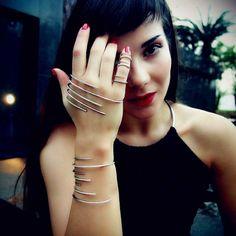 Cyborg Palm bracelet perfect set with cyborg ring and wrist cuff by Yeprem