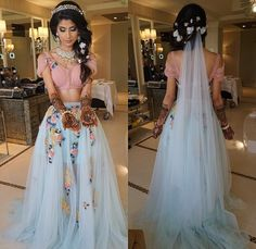 Bridal Mehendi Outfit Inspirations From Real Indian Weddings! Bridal Outfits, Bridal Dresses, Prom Dresses, Desi Wedding, Wedding Looks, Wedding Lehnga, Wedding Tips, Destination Wedding, Indian Dresses