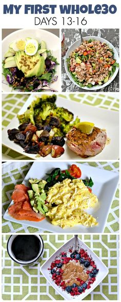 What I ate for breakfast, lunch and dinner on days 13-16 of my first Whole30.