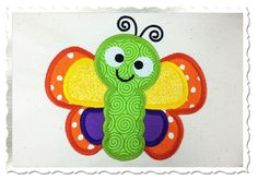 $2.95Applique Butterfly Machine Embroidery Design