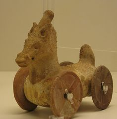 Ancient Greek Toy Horse. Toy Horse from 4th C. A.D. Athens