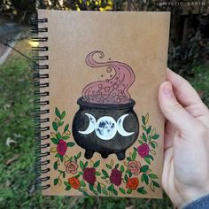 Hand made crystal jewelry, decorations, and more by Annabell Larsh, Mystic Earth. Witch Painting, Witch Drawing, Halloween Painting, Witch Art, Diy Painting, Painting & Drawing, Wiccan Spell Book, Witch Aesthetic, Hippie Art