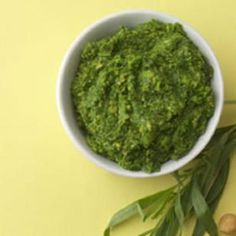 The French flavor of tarragon inspires this pesto, which is wonderful stirred into a simple fish or chicken soup and brings a je ne sais quoi to chicken salad.