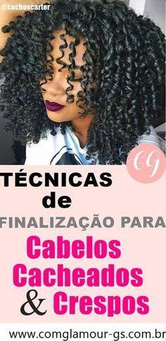 Técnicas de finalização para cabelos cacheados e crespos.