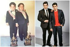 Raymond and Richard Gutierrez Look how chuffed these little chubby boys look. They won their trophies and they know they're meant for glory. Now Raymond is well known TV host, actor, editor and columnist, and his brother Richard is a famous actor and choreographer.