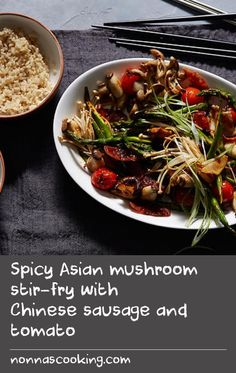 stir fry with chinese sausage and tomato spicy asian mushroom stir fry ...
