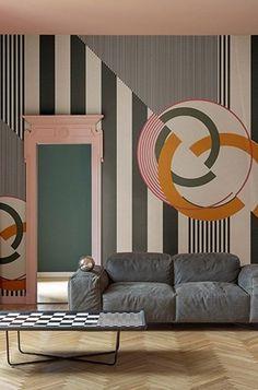 Motif pop art wallpaper CHERRY BOMB Contemporary Wallpaper 2017 Collection by Wall Wallpaper 2017, Pop Art Wallpaper, Pop Art Decor, Art Pop, Pop Art Design, Deco Design, Modern Pop Art, Stunning Wallpapers, Contemporary Wallpaper