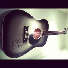 Johnny Cash is legend. Always will be. He held this guitar, played this guitar. To be near it is incredible.
