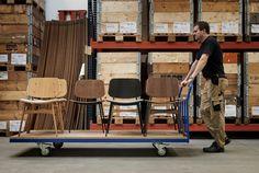 Børge Mogensen's Søborg chairs on their final journey through our warehouse before being shipped to design store all over the world. #amodernoriginal #designcraft #danishdesign #danskdesign #borgemogensen #børgemogensen #søborgchair #søborgstol #soborgchair #stol #chair #craftsmanship #behindthescenes