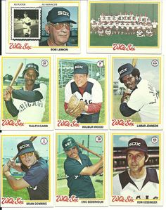 1978 Topps Vintage NM WHITE SOX team set of 31 cards Wood Garr Johnson Downing  #ChicagoWhiteSox
