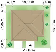 Działka 26.15 × 25.35 m domu Neptun IV House Plans, How To Plan, Home, Ideas, Houses, Build House, Projects, Ad Home, Homes