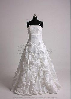 Stunning Taffeta Strapless Wedding Dress