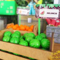 melancia-minecraft                                                                                                                                                      Mais Minecraft Party Food, Minecraft Birthday Party, Birthday Parties, Mine Craft Party, Pirate Party, Fnaf, Watermelon, Gugu, Crafts