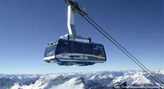 Skigebied Zugspitze gletscher: skien op de grens van Oostenrijk en Duitsland