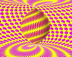 Twist Clock Illusion - this op art, designed by Anh Pham, appears to twist