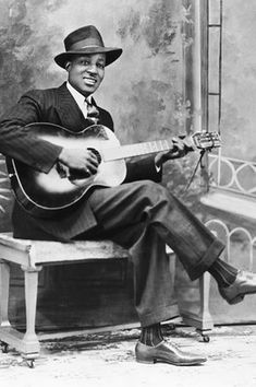 Blues legend Big Bill Broonzy born June 26 in 1893, as he later said, or possibly in 1905 as family records suggest.